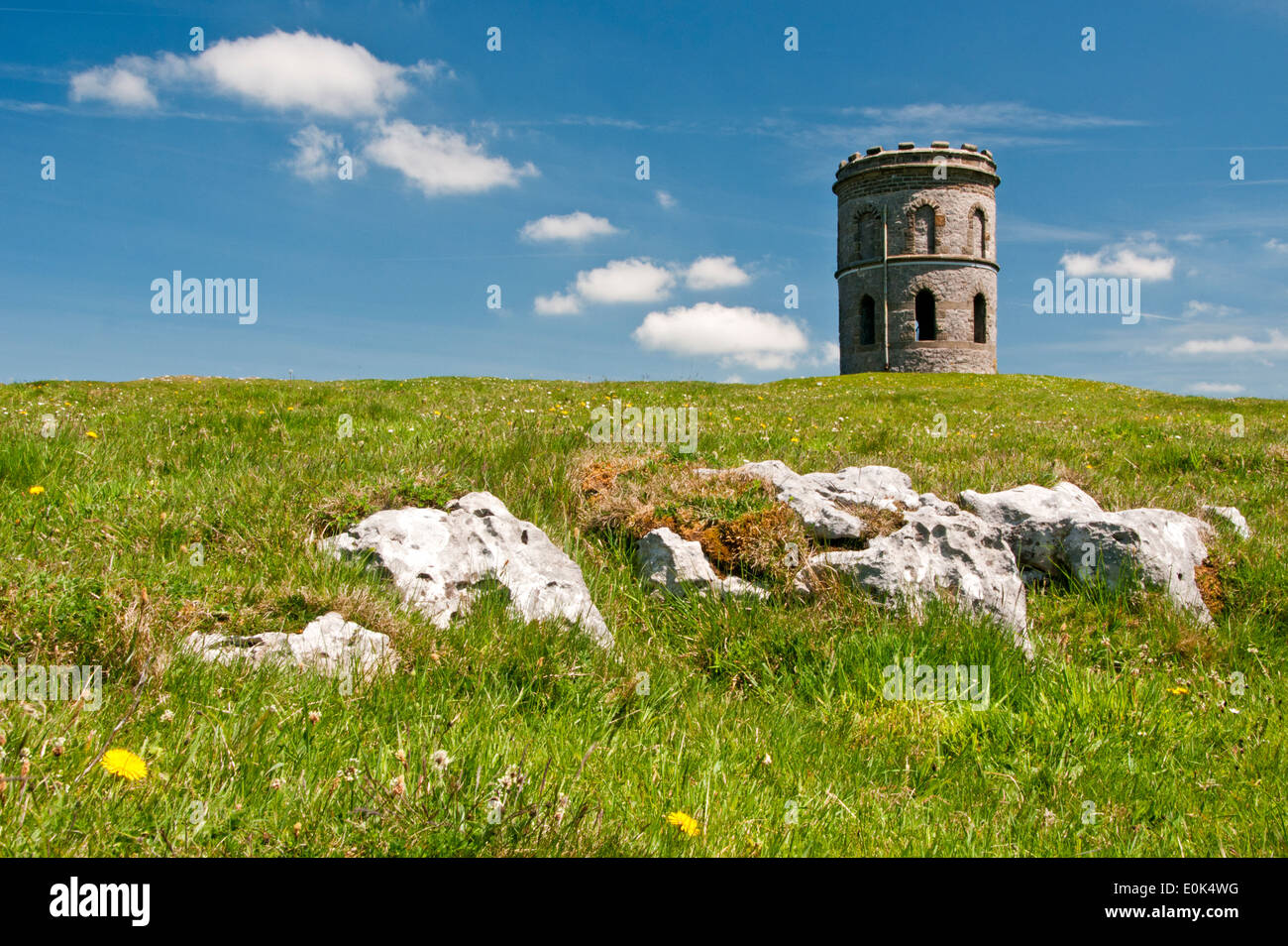 Solomons Temple, Grinlow Hill, Buxton, Peak District, Derbyshire, England, UK - Stock Image