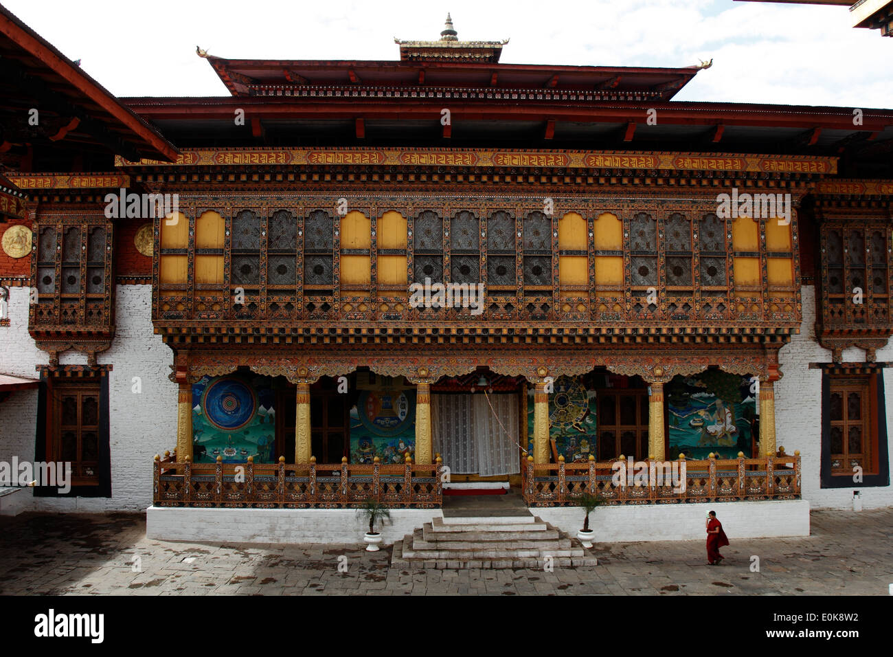 Punakha DZong inside - Stock Image
