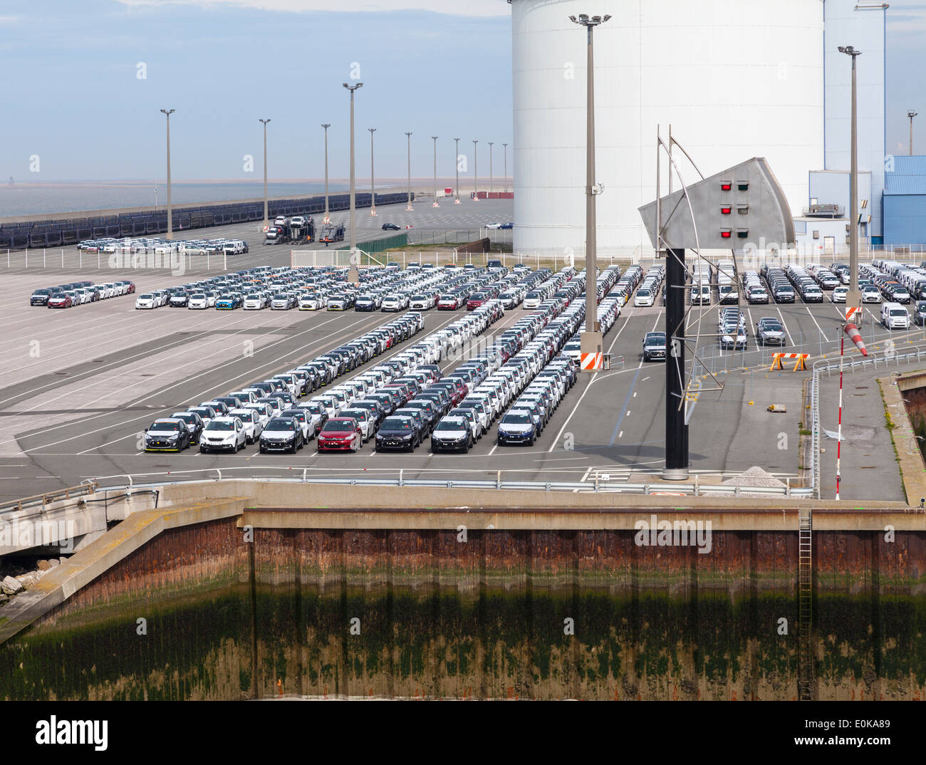 Cars ready for export - Stock Image