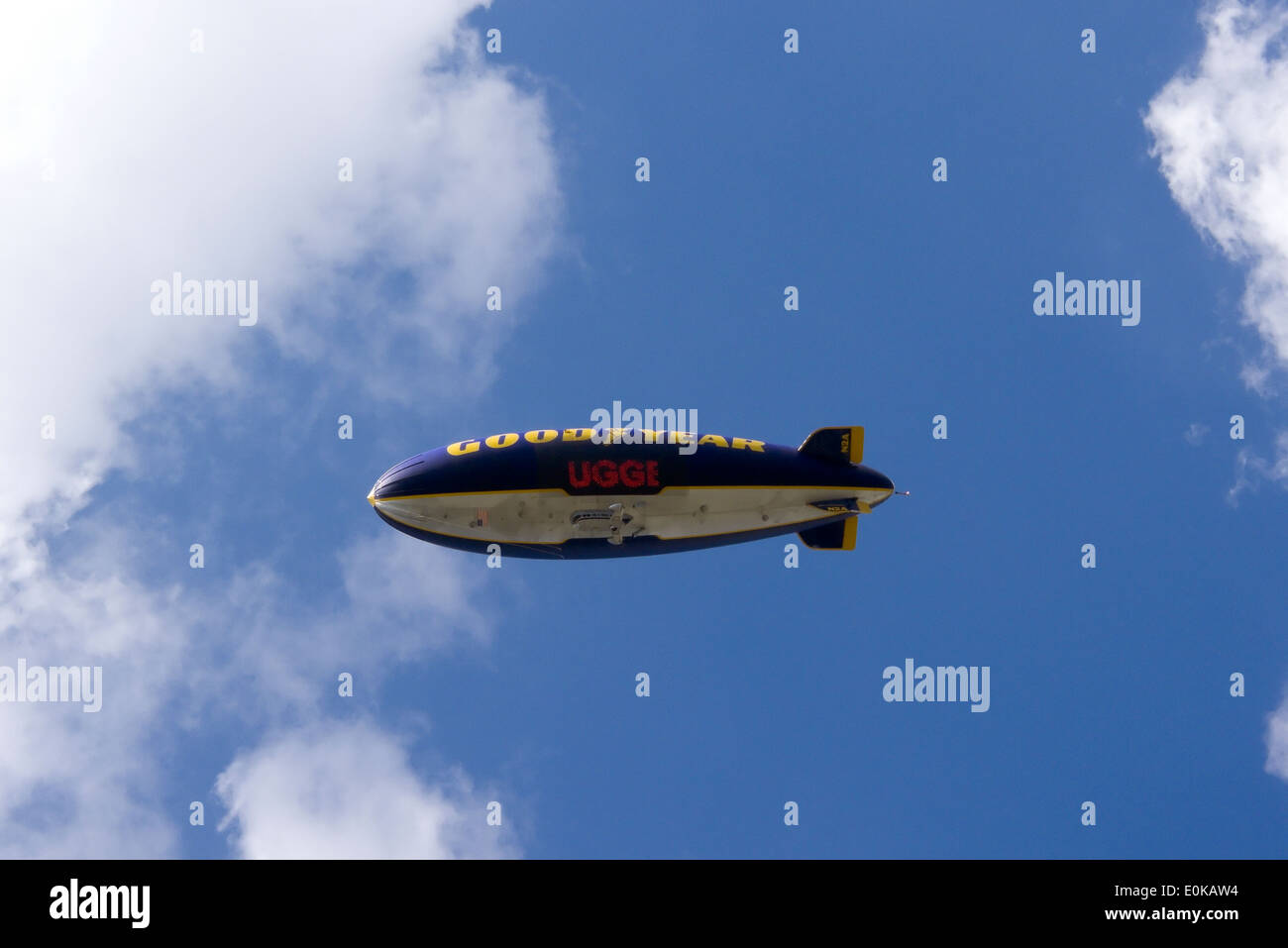 The goodyear blimp - Stock Image
