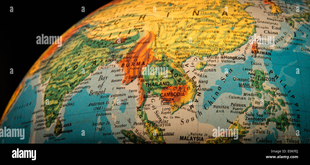 South East Asia Globe Stock Photos & South East Asia Globe ... on map of world globe, map of north america globe, map of new zealand globe, map of middle east globe,