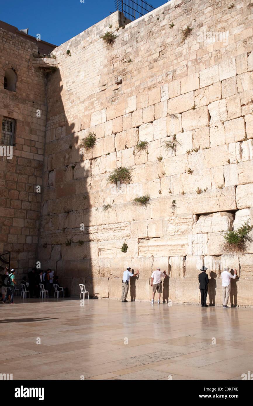 Wailing Wall, Jerusalem, Israel - Stock Image