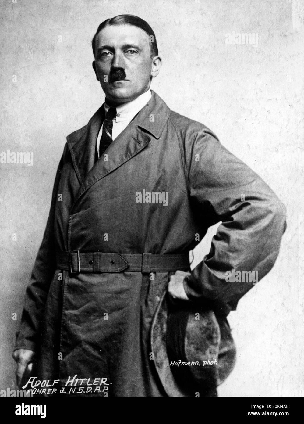 Original portrait of Adolf Hitler - Stock Image