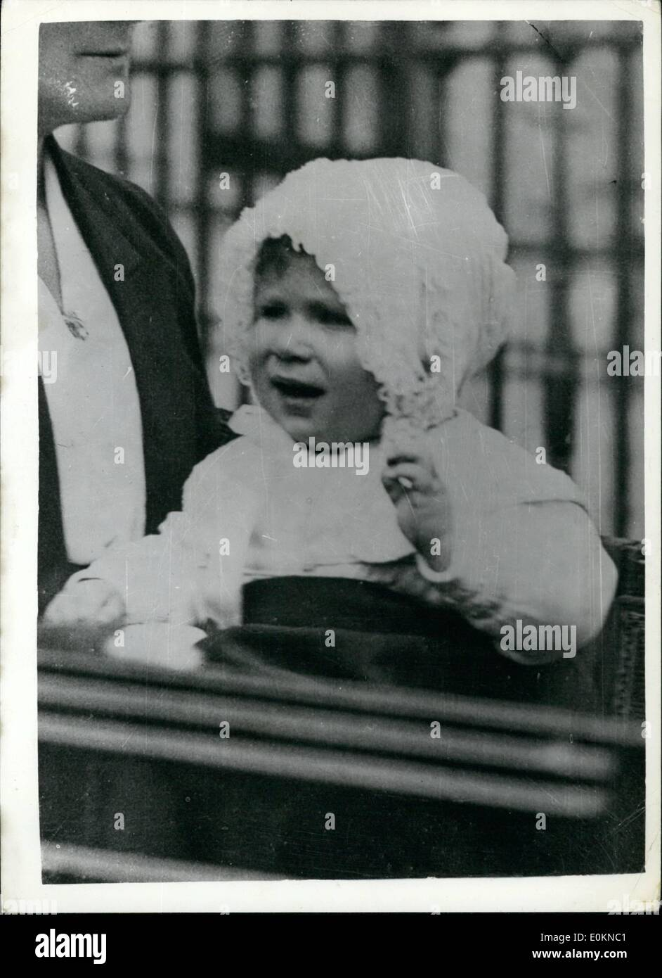 Jul. 07, 1927 - Princess Elizabeth photographed as a baby. - Stock Image