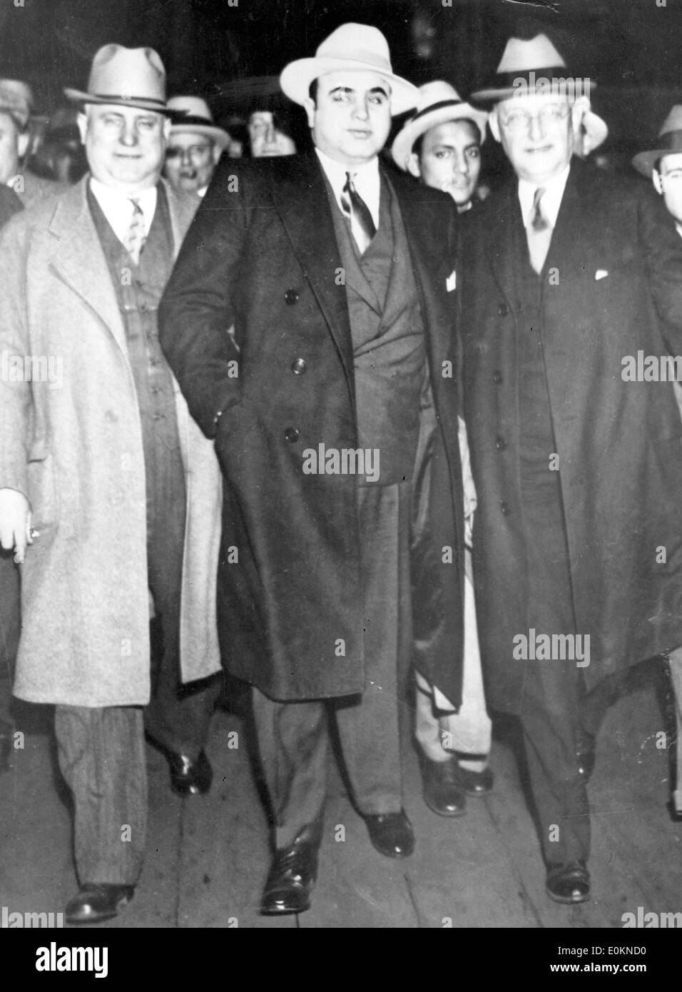 Gangster Al Capone with Marshall Laubenheimer in New York - Stock Image