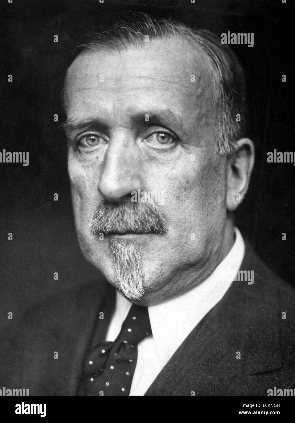 Portrait of German novelist Heinrich Mann - Stock Image
