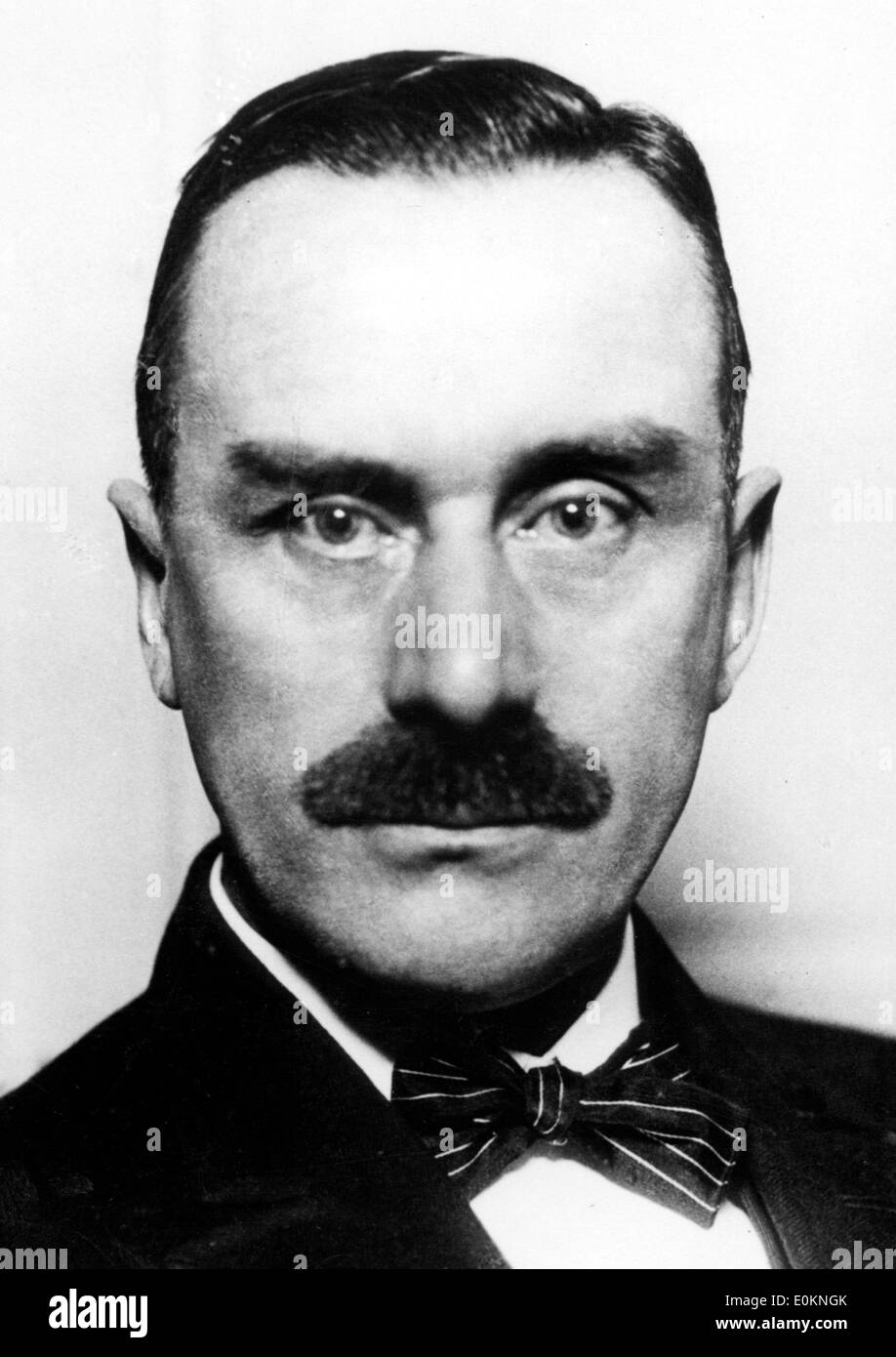 Portrait of German novelist Thomas Mann - Stock Image