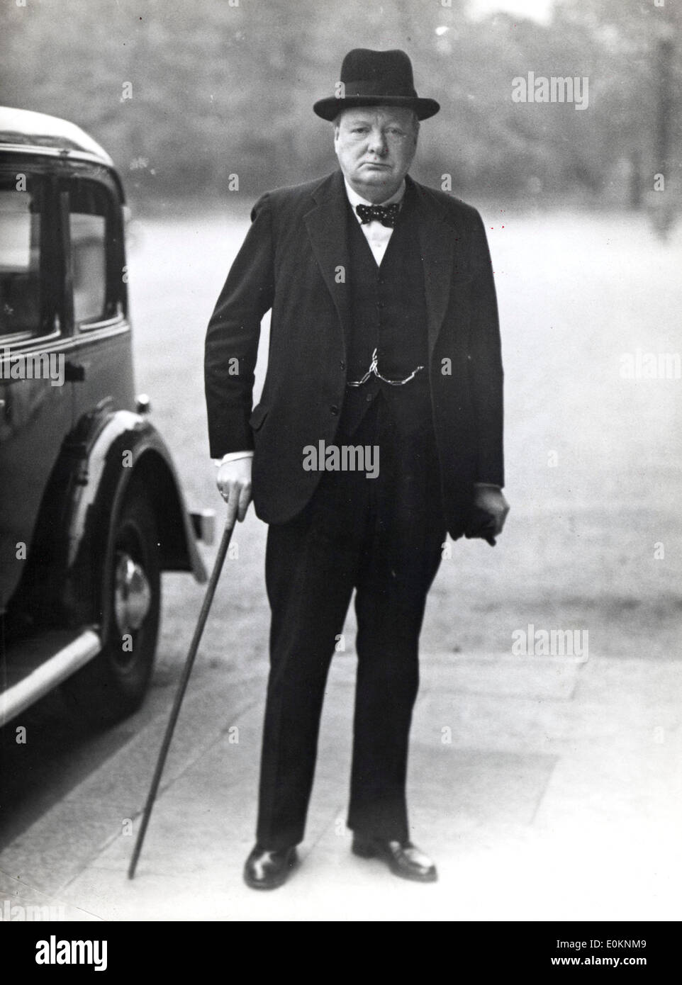 Prime Minister Sir Winston Churchill Stock Photo