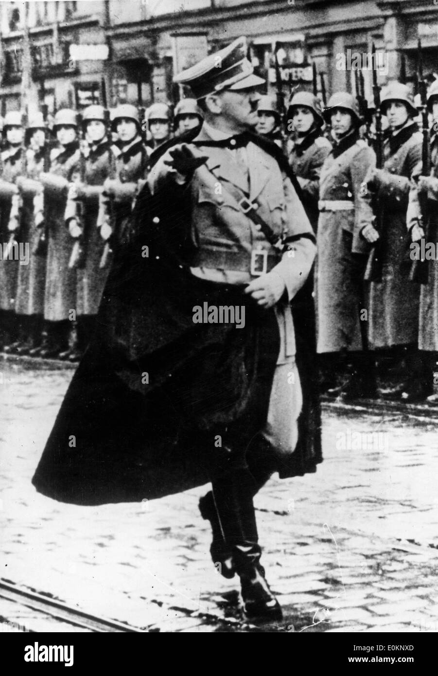 Adolf Hitler inspecting his troops - Stock Image