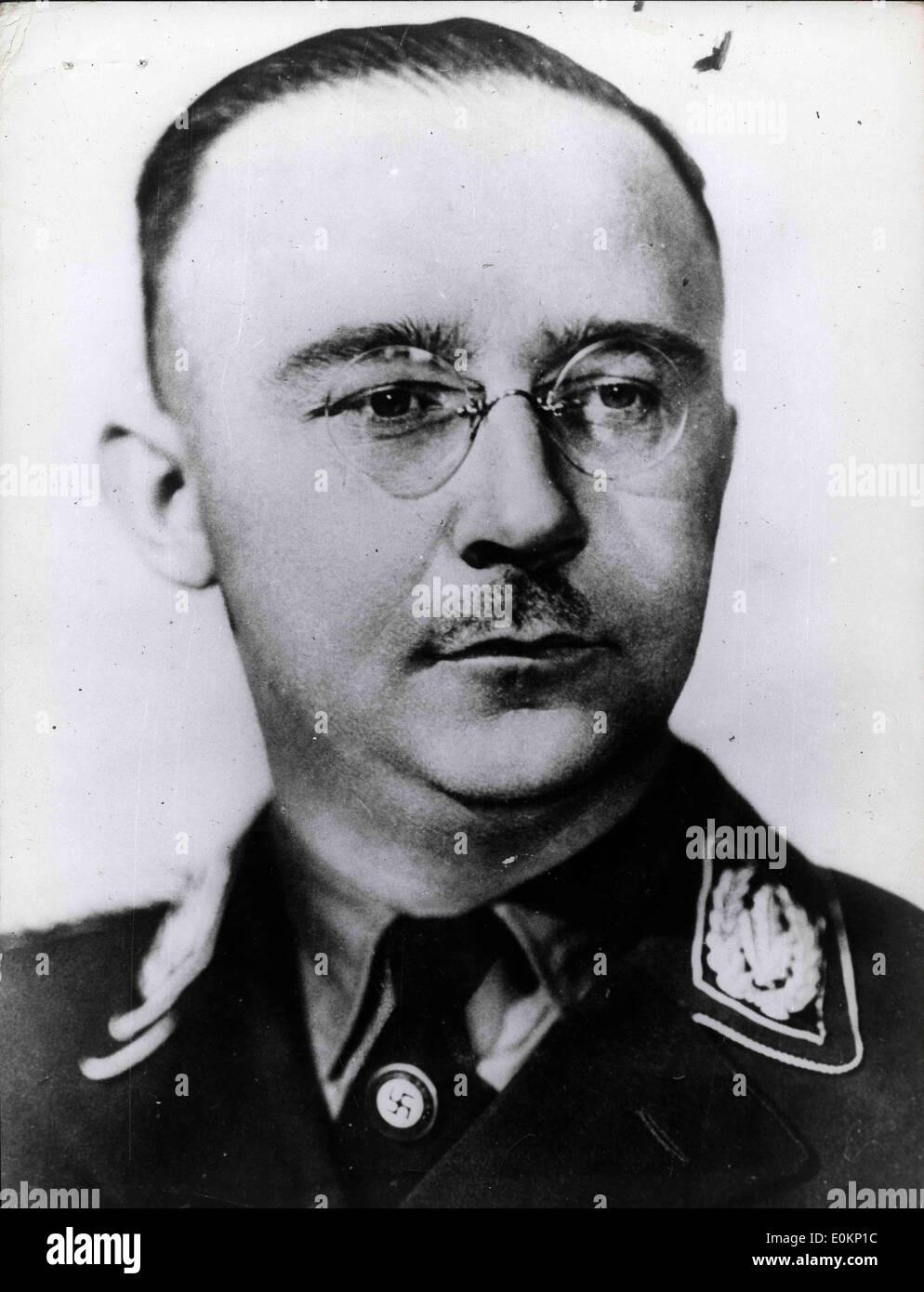 Portrait of Nazi commander Heinrich Himmler - Stock Image
