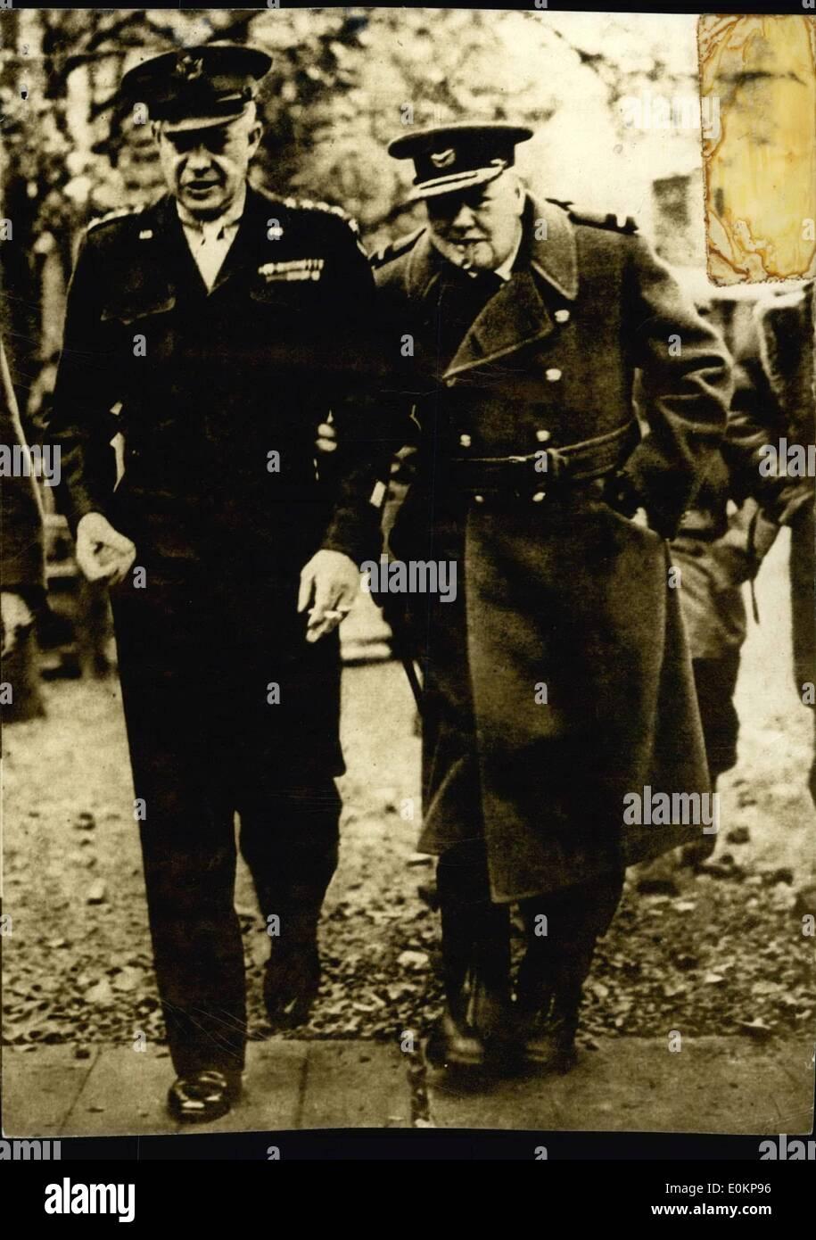 Jun. 06, 1944 - Eisenhower in Normandy, June '44. - Stock Image