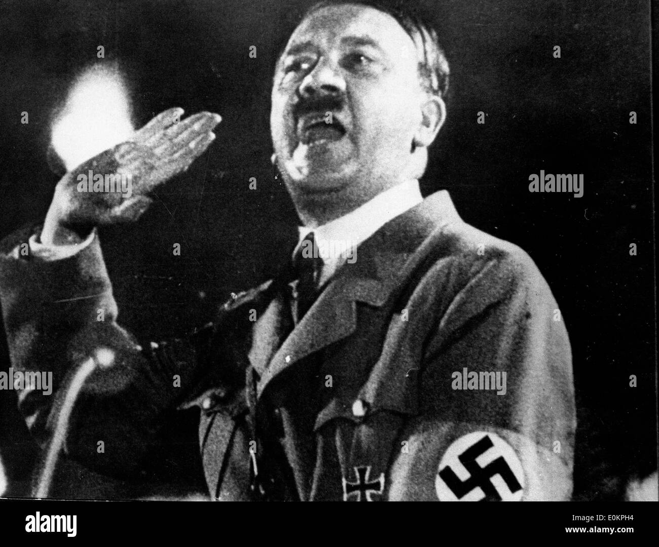 Adolf hitler dictating before commiting suicide - Stock Image