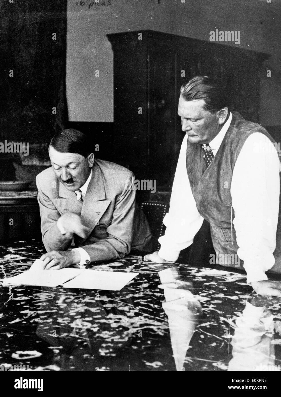 Adolf Hitler and Hermann Goering - Stock Image