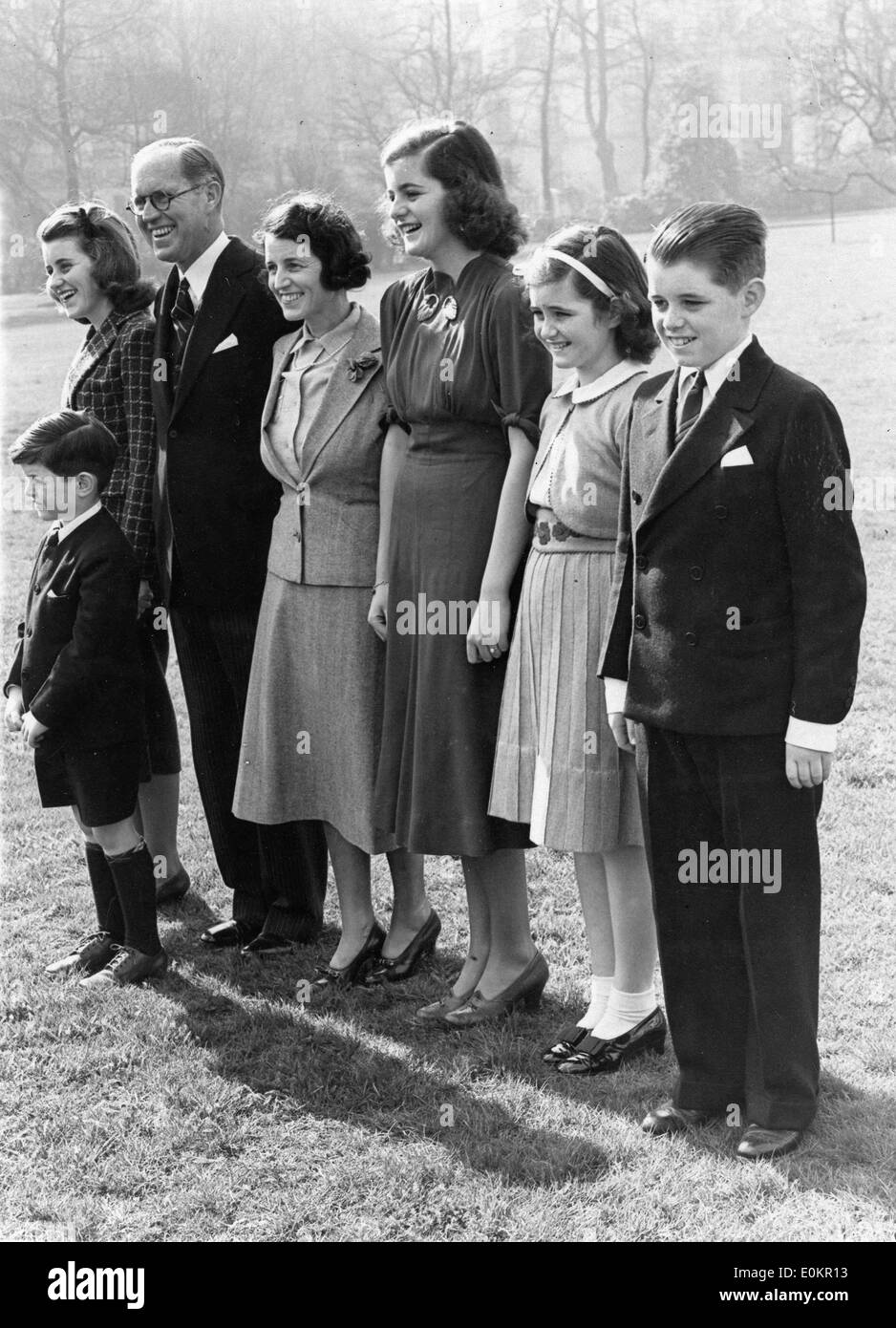 March 16, 1938 - London, England, United Kingdom - From left to right are KATHLEEN KENNEDY, JOSEPH KENNEDY SR (1888-1969), ROSE - Stock Image