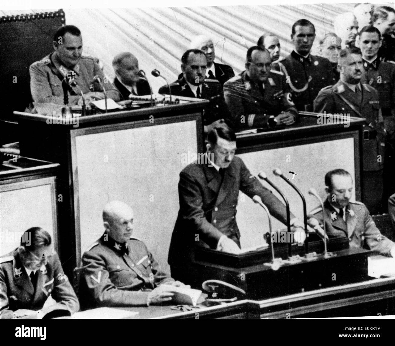 Adolf Hitler during a meeting at the Reichstag - Stock Image