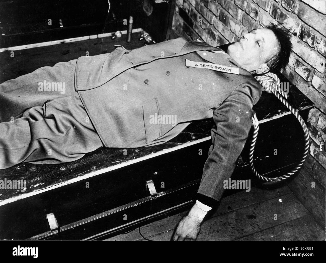 Arthur Seyss Inquart after his death Stock Photo