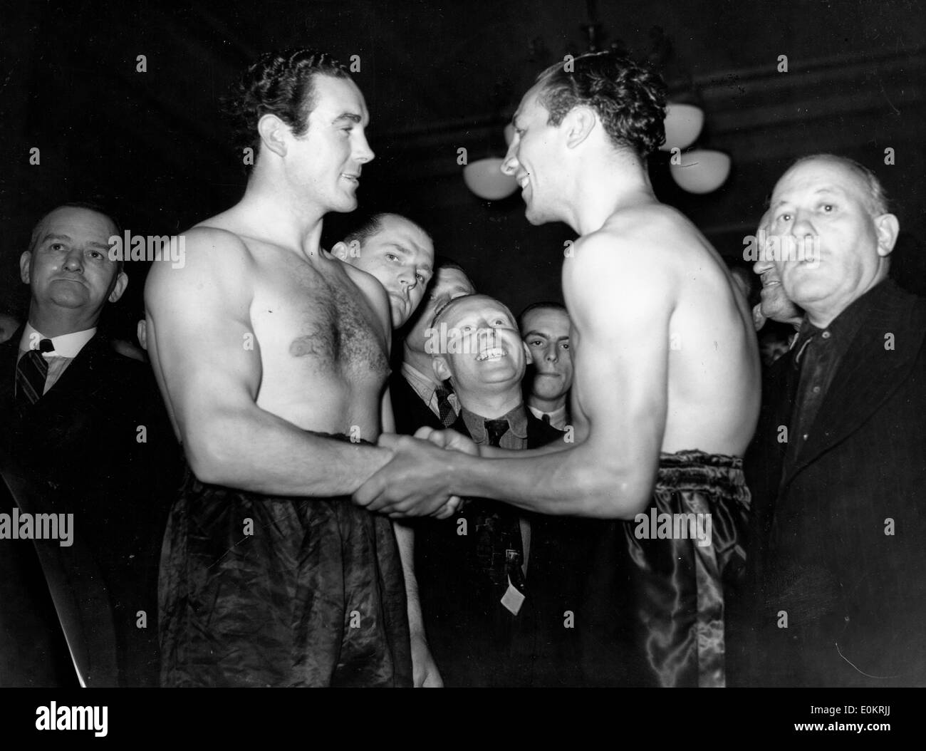 Boxer Jack Doyle and Eddie Phillips - Stock Image