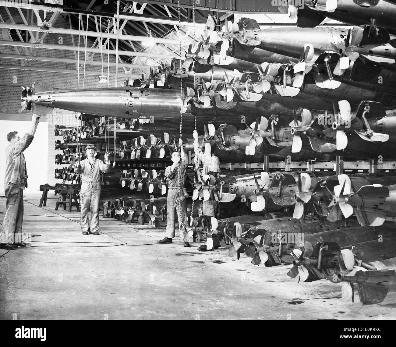 Torpedoes to be tested before dispatched to Royal Navy - Stock Image