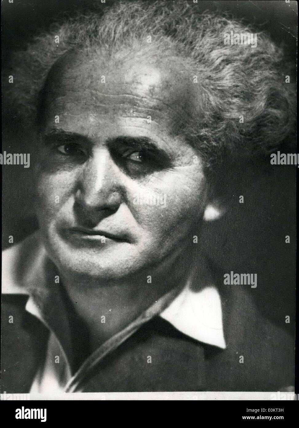 May 14, 1948 - David Ben-Gurion, born 1886, Israel Labor: Premier designate of the new Hebrew state with the Jews leave proclaimed. - Stock Image