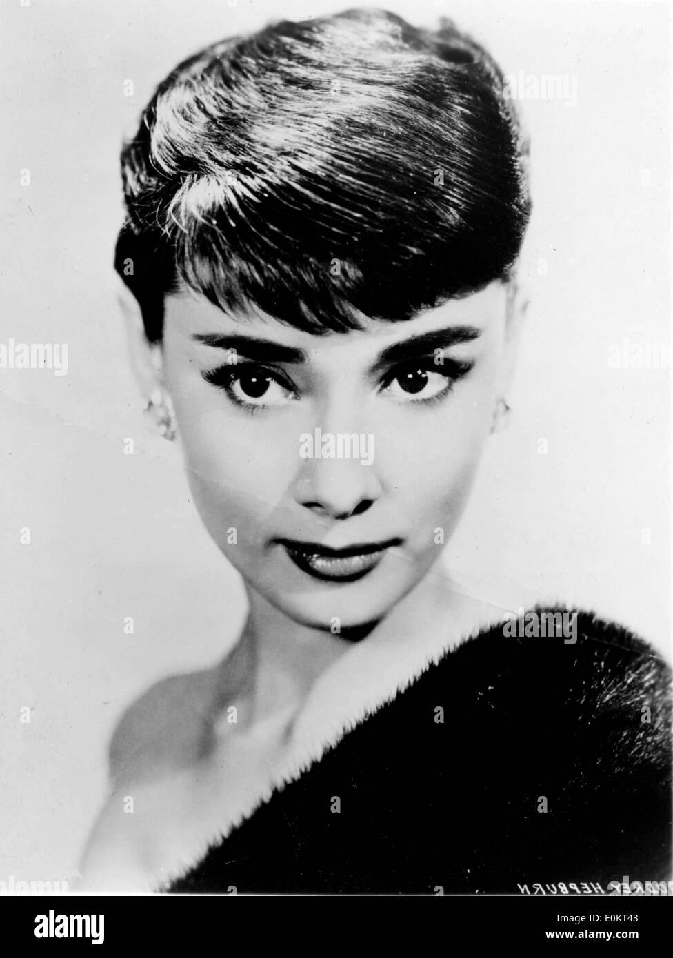 Portrait of actress Audrey Hepburn - Stock Image