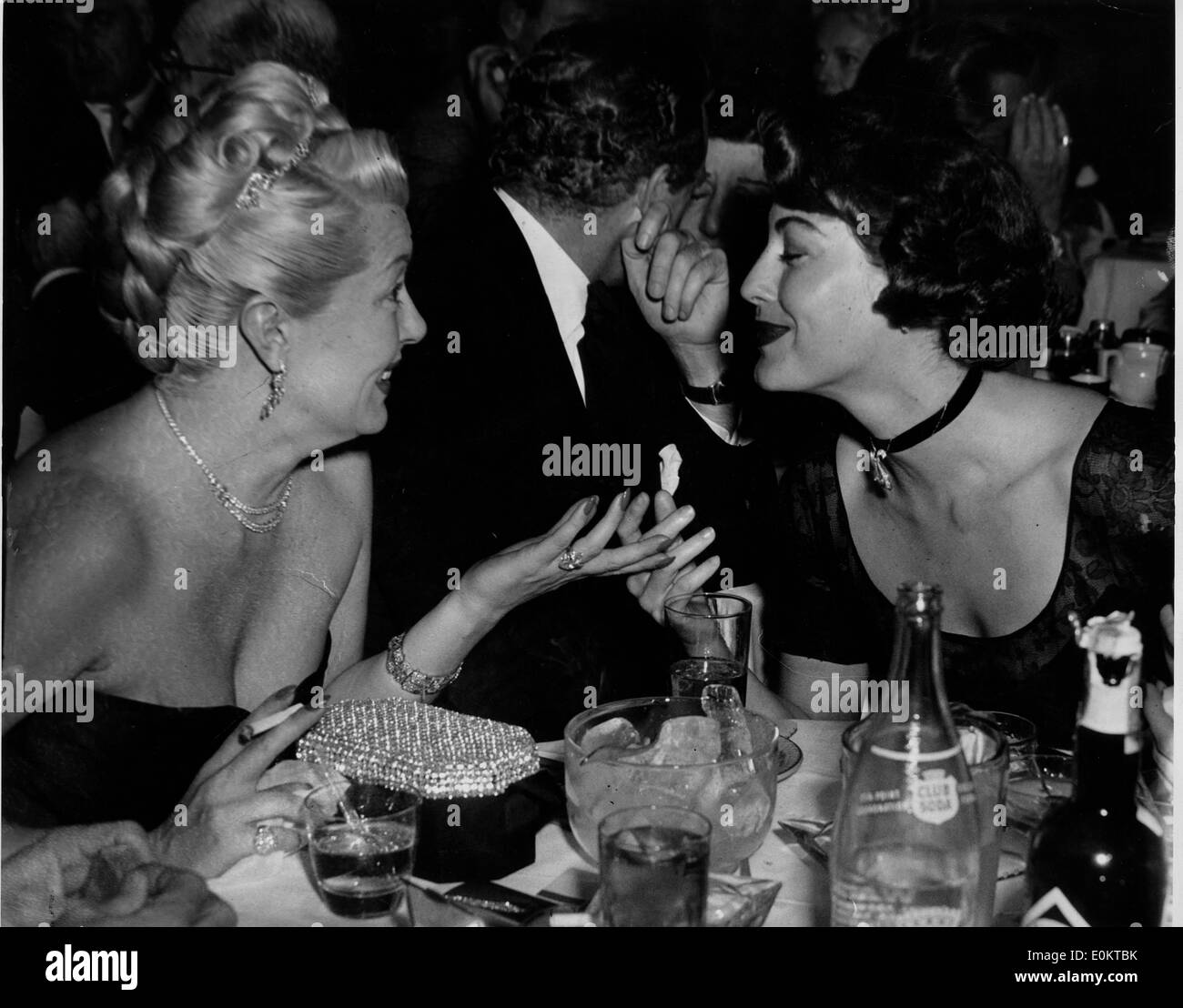 Actresses Lana Turner and Ava Gardner at the Mocambo - Stock Image