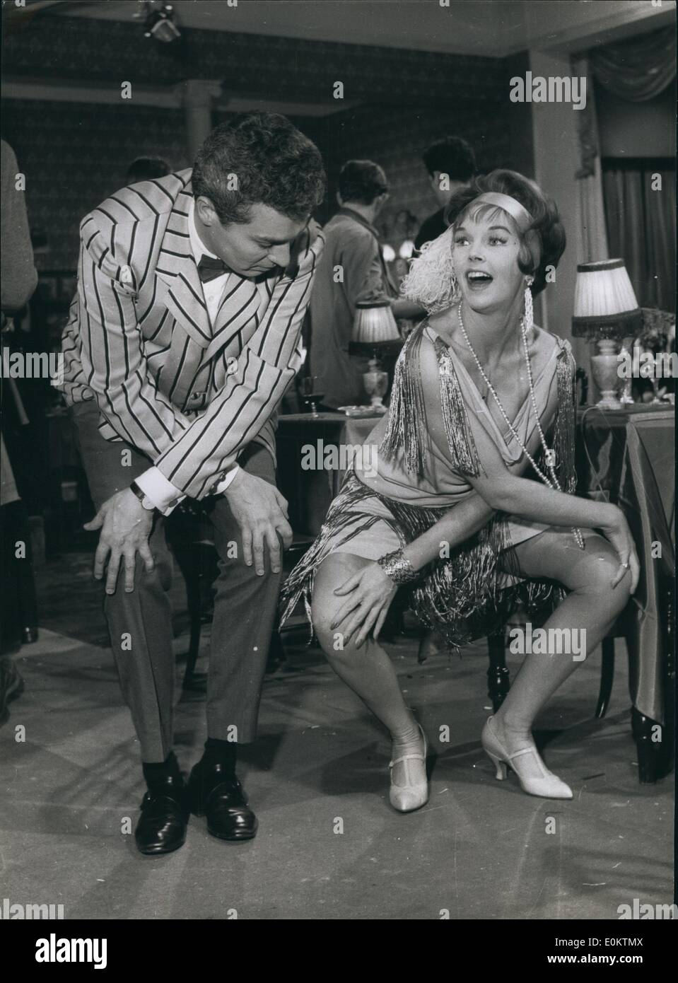Jan 1, 1950 - Jive With The Stars: Actress Dawn Adams And Sydney Chaplin Have A Private Jive Session At Walton Studios Stock Photo