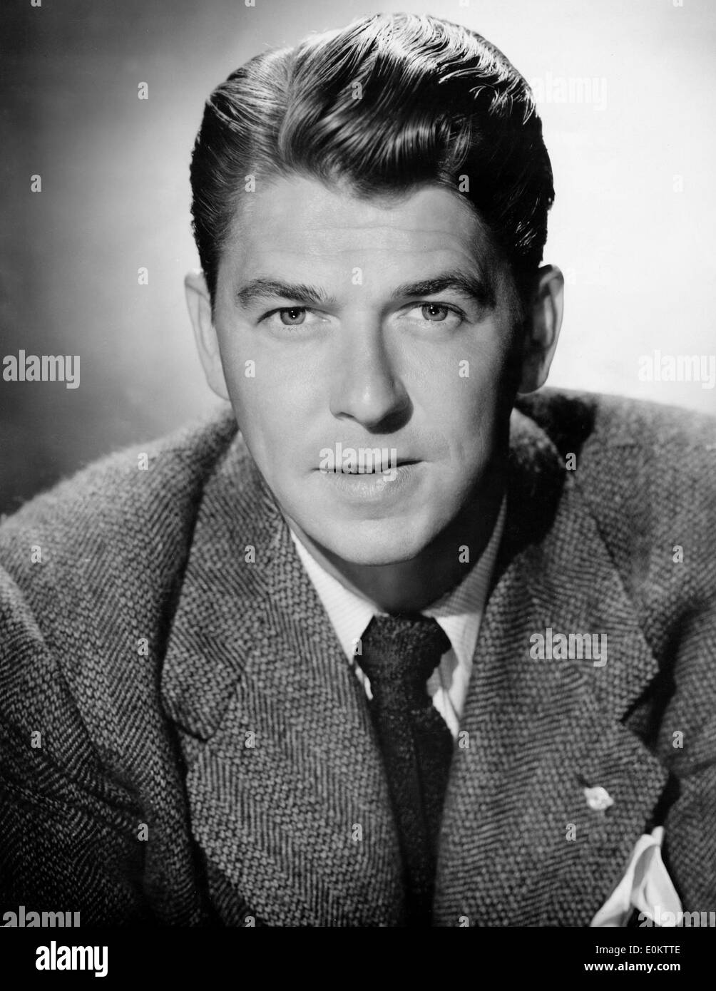 Portrait of Ronald Reagan before he became President - Stock Image