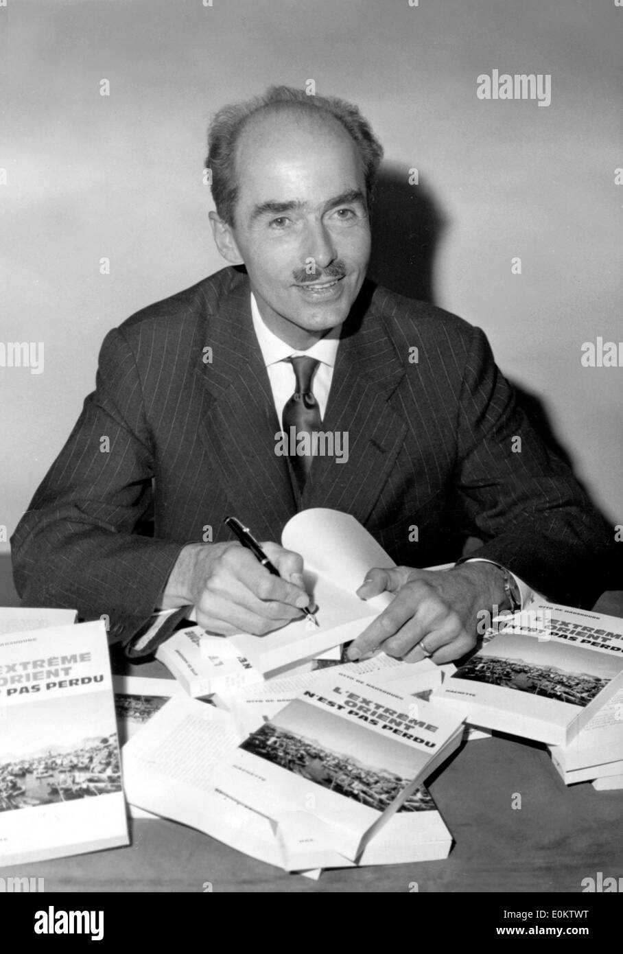 Prince Otto Von Habsburg at a book signing - Stock Image