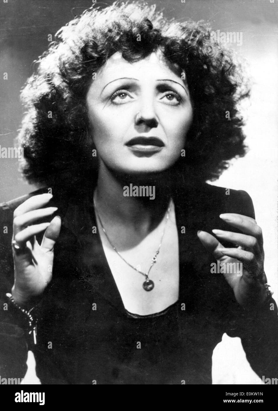 Portrait of singer and cultural icon Edith Piaf - Stock Image