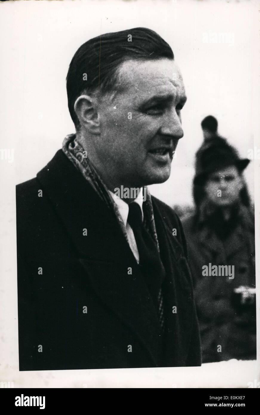 Jun. 04, 1952 - Captain Adolf Dickfeld, who fought in World War 2 and was known for his fairness, was invited to the US by veterans for a lecture tour. He would later guest in Spain. He fought in North Africa. - Stock Image