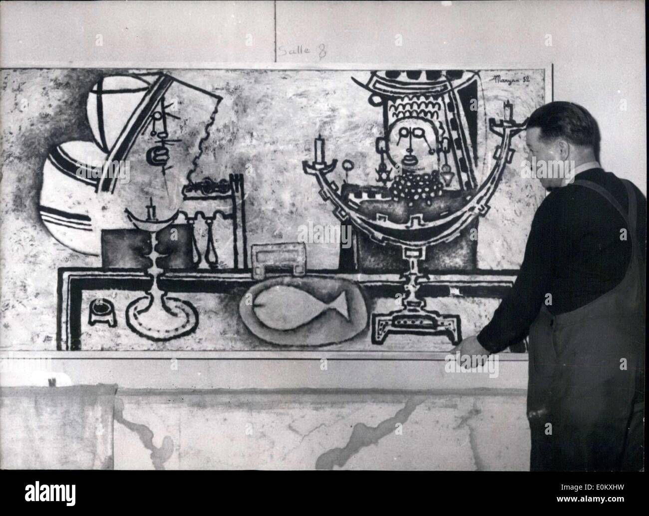 Oct. 07, 1952 - Art ''Curiex Tableau'' on display in NYC - Stock Image