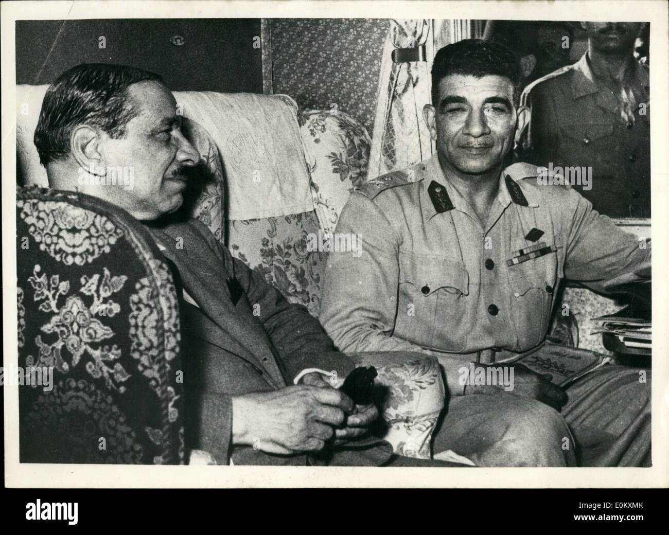 Jul. 07, 1952 - the Egyptian Army Takes Over Command General Neguib Forces Farouk To Abdicate: the Egyptian Army-led by general - Stock Image