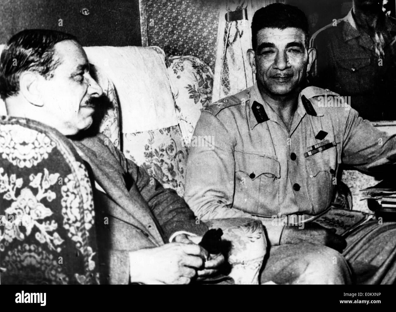 President of Egypt Muhammad Naguib - Stock Image