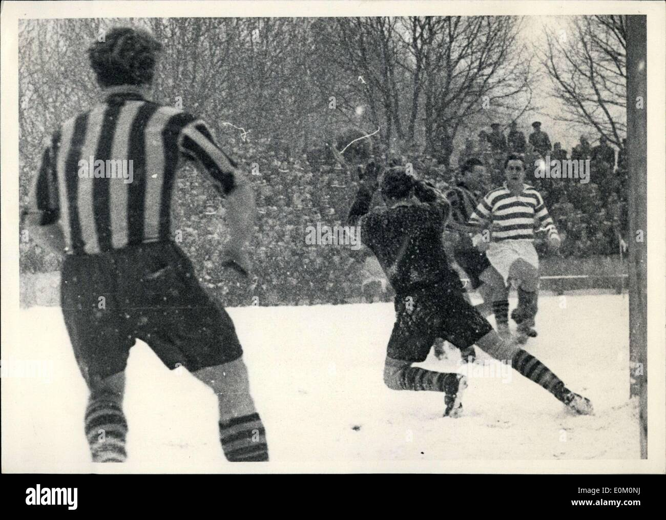 Feb. 10, 1953 - MSV Duiburg, formerly known as Meidericher SV, won a game against Aachen 4:0. - Stock Image