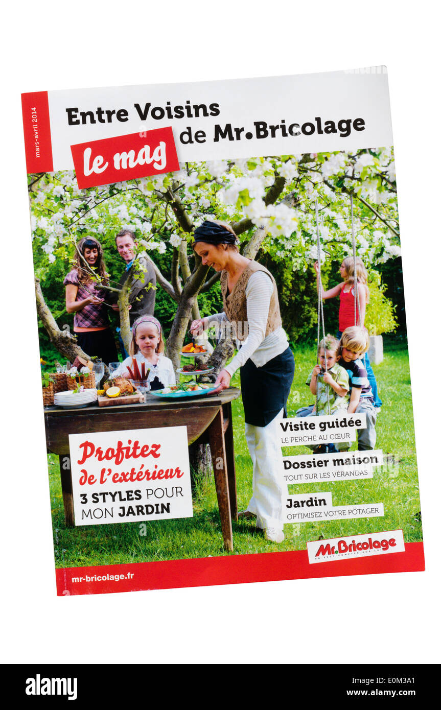 Mon Jardin En Avril a catalogue for french diy shops mr bricolage stock photo