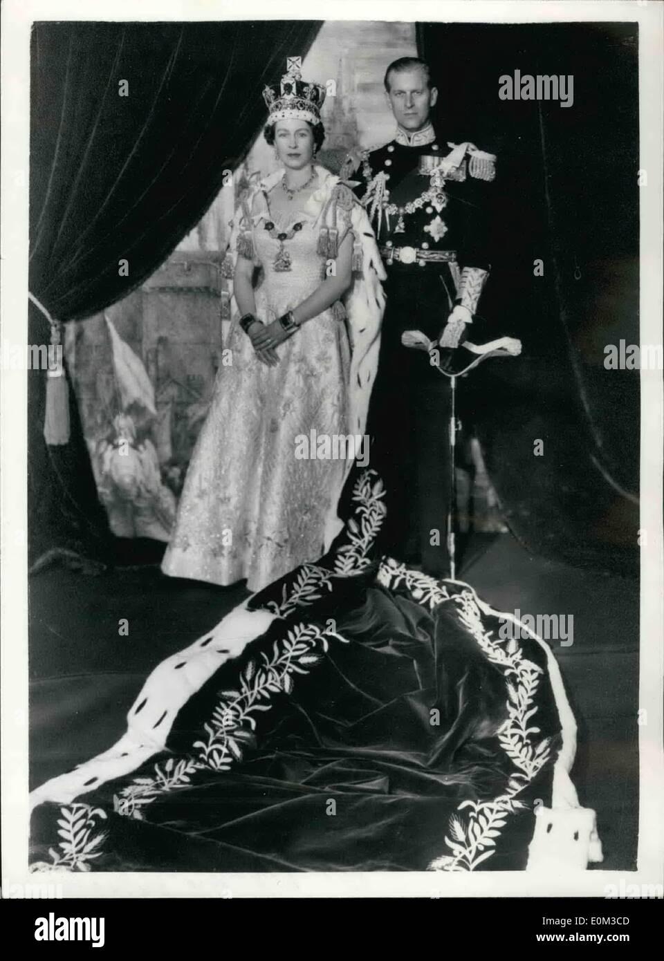 Jun 06 1953 Queen Elizabeth Ii And Duke Of Edinburgh