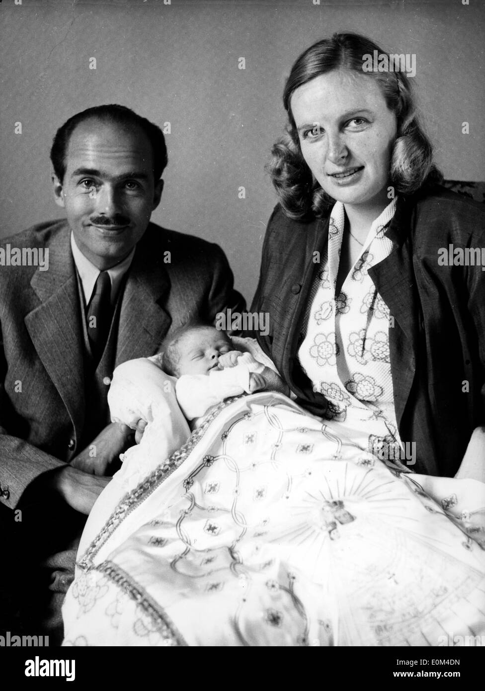 Otto von Habsburg with his wife and daughter - Stock Image