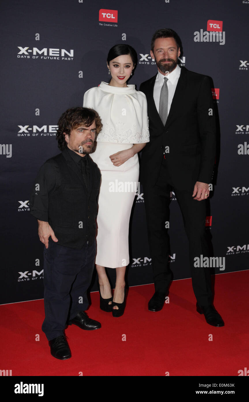 hugh jackman fan bingbing and peter dinklage at the x men premiere