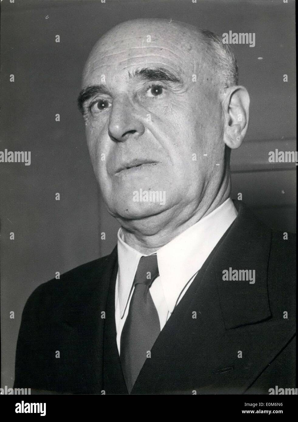 Oct. 26, 1953 - Pictured is the successor to Waldemar Kraft, Dr. Carl Sch?fer. He succeeded Kraft as president of the Bank of Danzig. - Stock Image