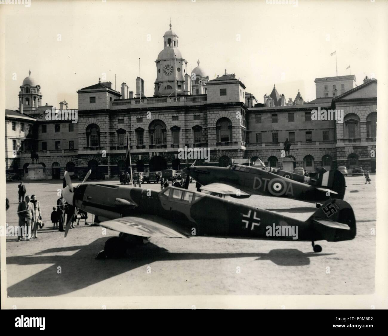 Sep. 09, 1953 - Battle of Britain Week. Aircraft On Display At Horse Guards Parade. Keystone Photo Shows:- SideStock Photo