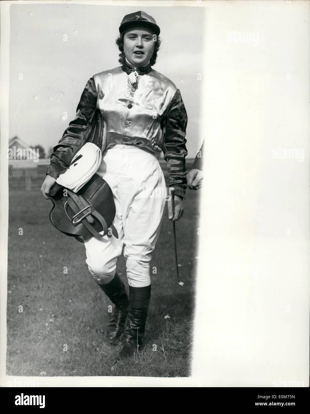 Oct. 10, 1953 - The Newmarket Town Plate: The only horse race in women can become jockeys - The Newmarket Town Plate Stock Photo