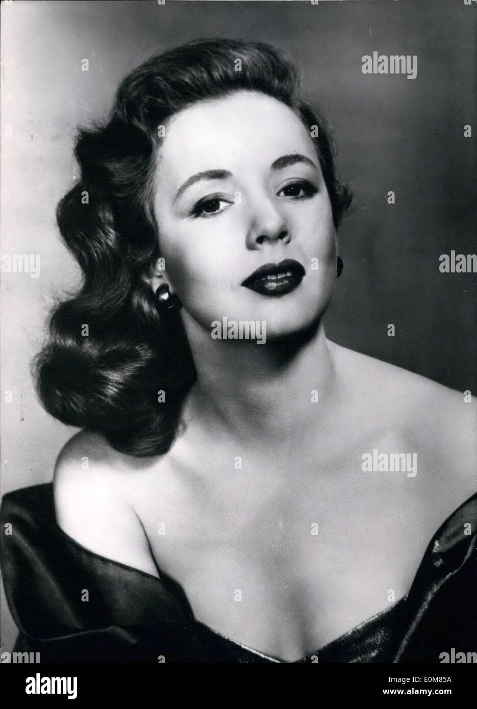 Jan. 18, 1954 - In order to fight against the publicity in favor of blondes and brunettes, a new association has popped up in Hollywood: America's National Organization of Redheads''. Piper Laurte, the star of ''The Louisiana Gentleman,'' was elected as the prettiest redhead of the year. - Stock Image