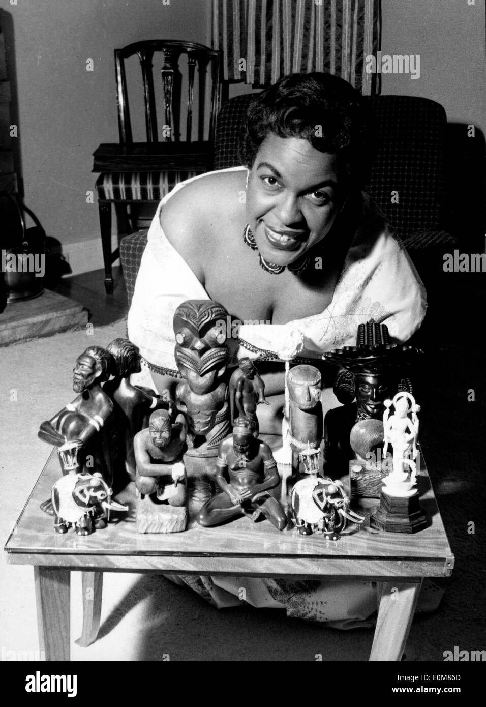Winifred Atwell with her collectibles from her travels - Stock Image