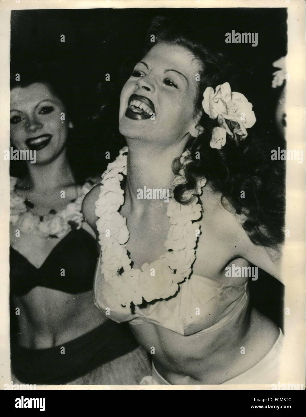 Dec. 19, 1953 - 19-12-53 They call her the German Rita . Lovely dancer in Munich. Looking very much like the Dancing Goddess is German dancer Hannelore Diez, who they claim is a double of Rita Hayworth. Hannelore is the star of the Cabaret Metro Girls which appear every night at the Bongo Bar in Munich. - Stock Image