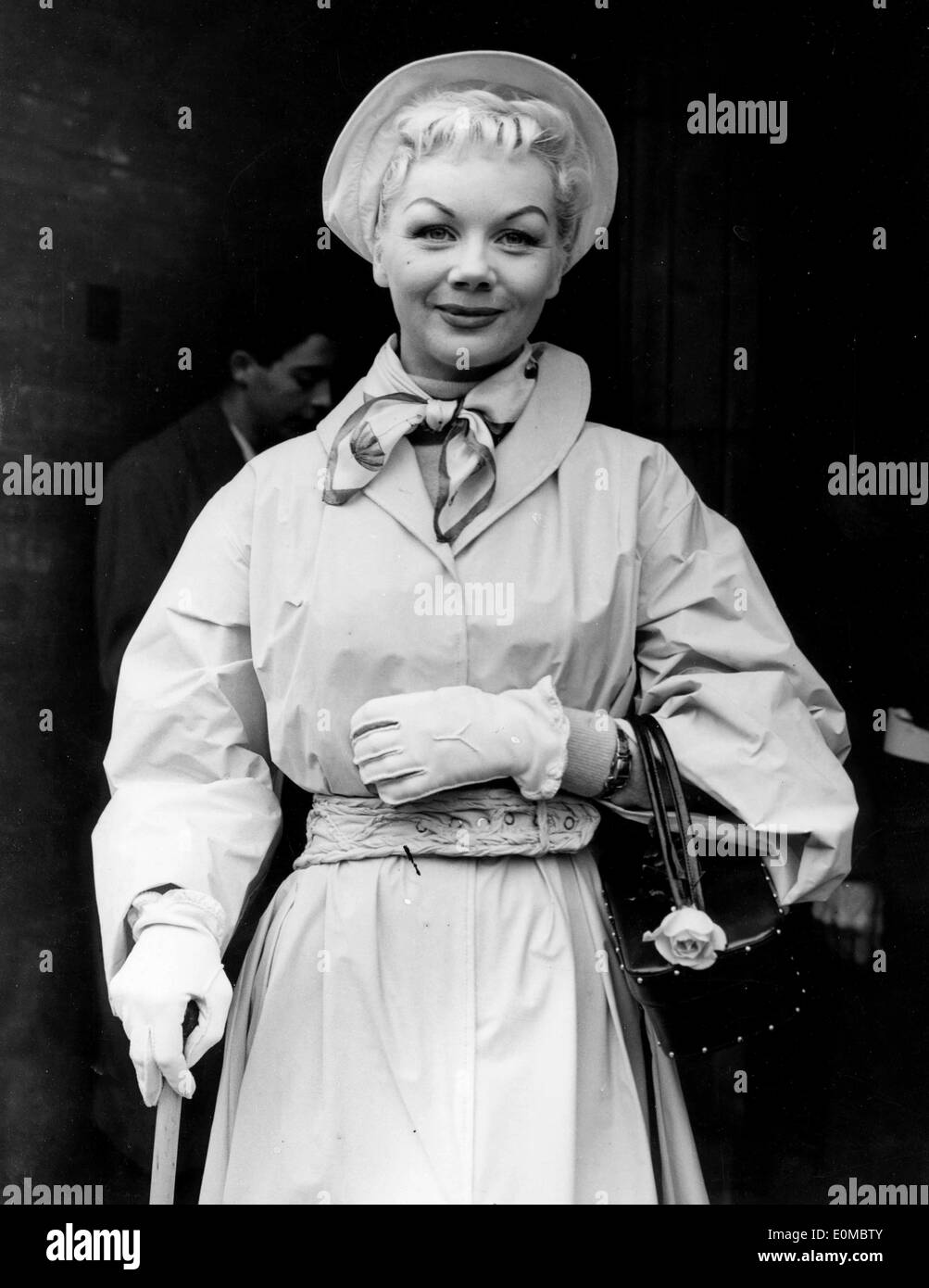 Gloria Nord on her way to Wealdstone Police Court - Stock Image