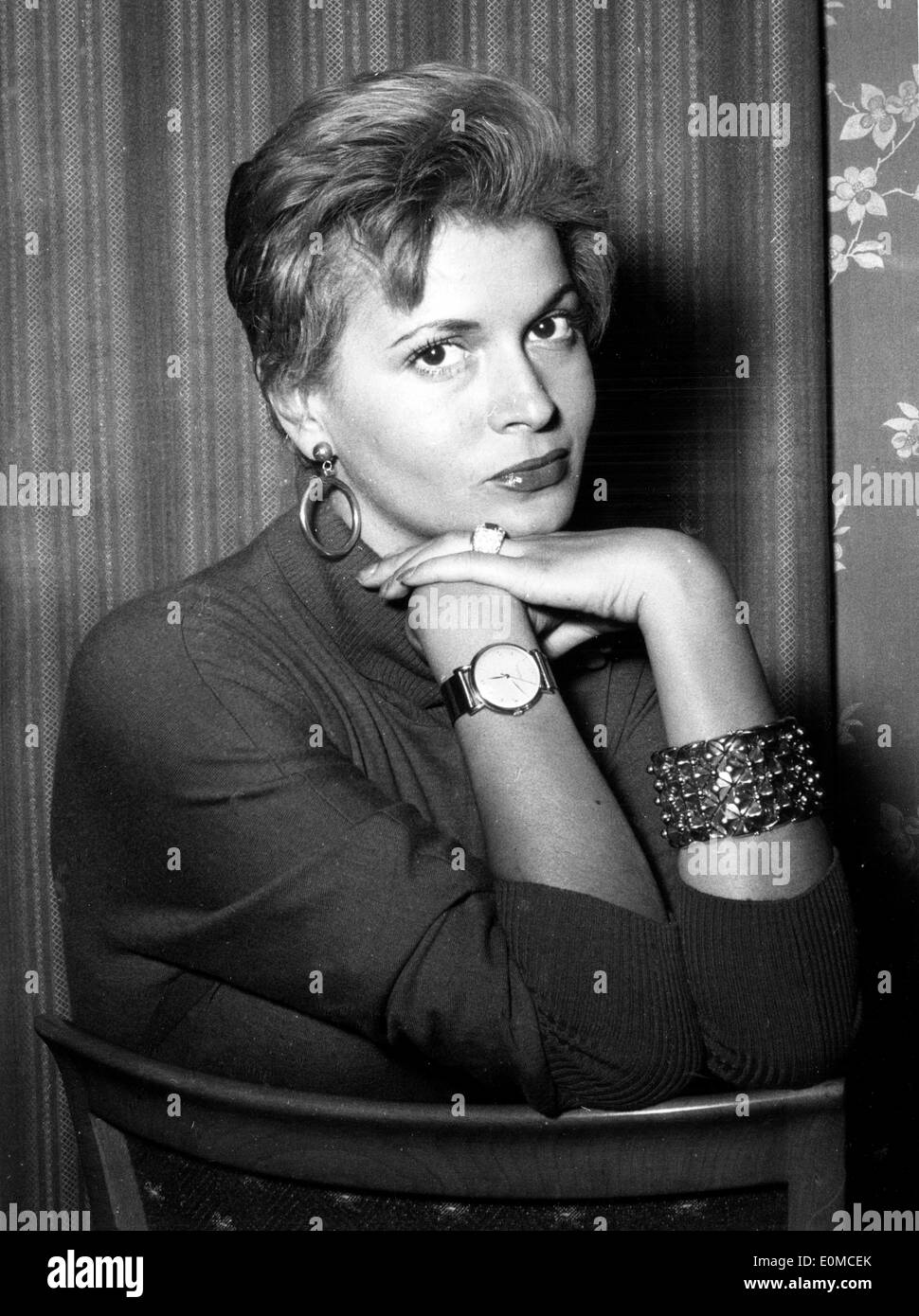 Portrait of actress Eva Bartok Stock Photo