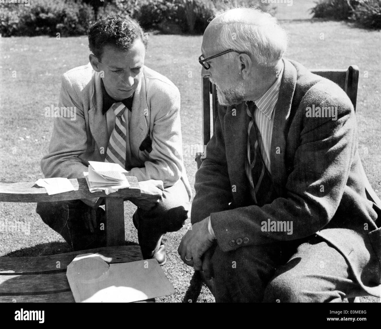 Composers Benjamin Britten and Ernst Ansermet - Stock Image