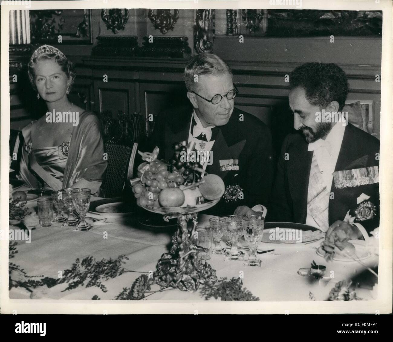 Nov  11, 1954 - Haile Selassie in Stockholm: Haile Selassie