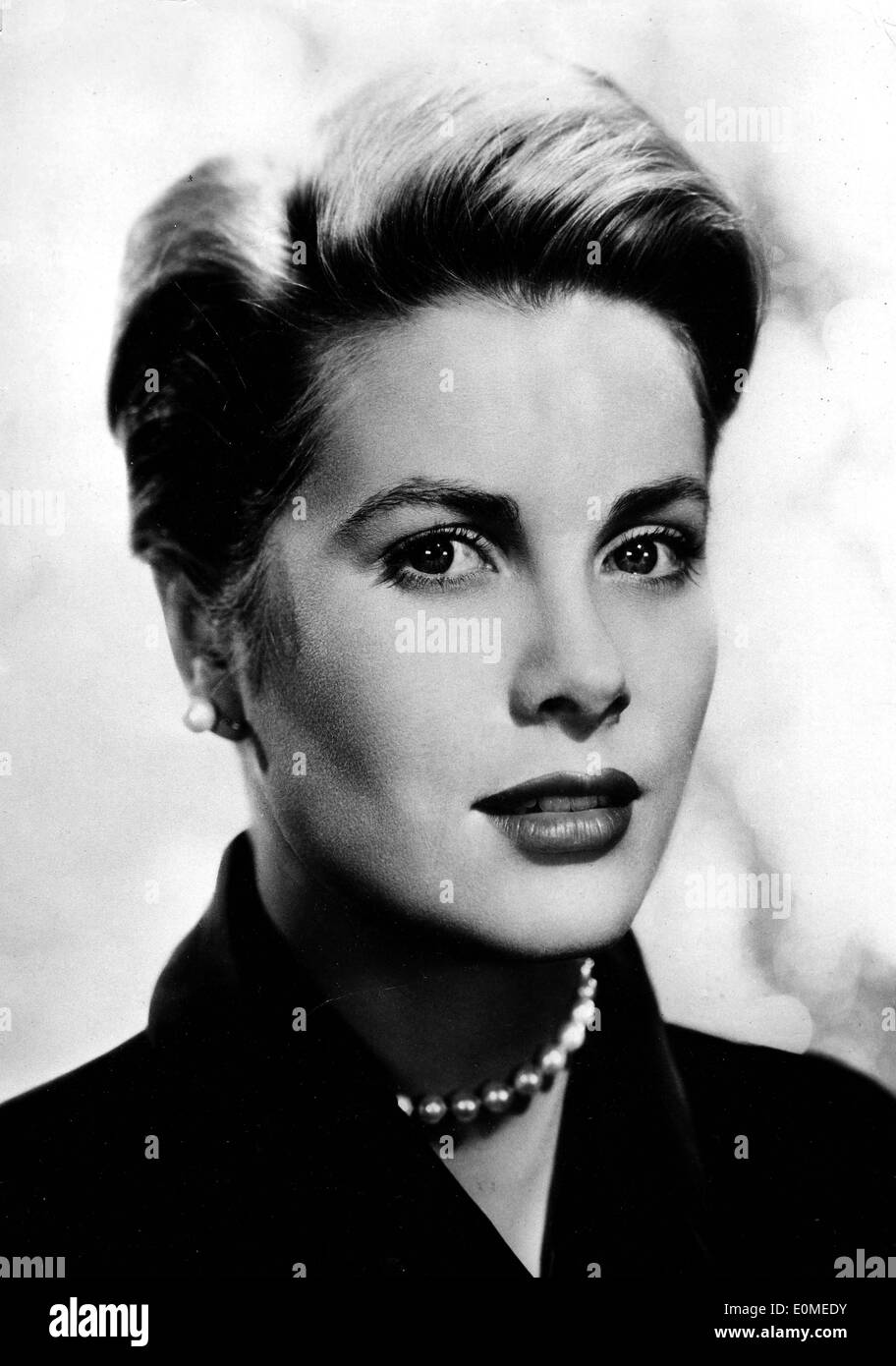 Portrait of actress and princess Grace Kelly - Stock Image
