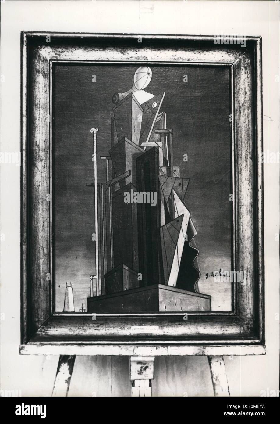 Feb. 02, 1955 - Surrealist Painter Denies Being Author Of ''Composition'': ''Composition'', Painting Attributed To Chirico, The - Stock Image